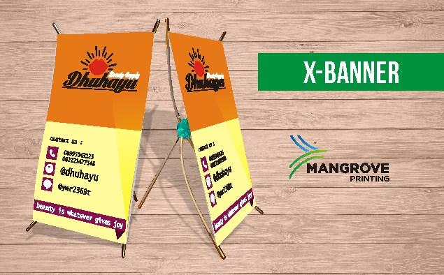 Mangrove Printing Cetak X-Banner Termurah dan Berkualitas di Mamuju