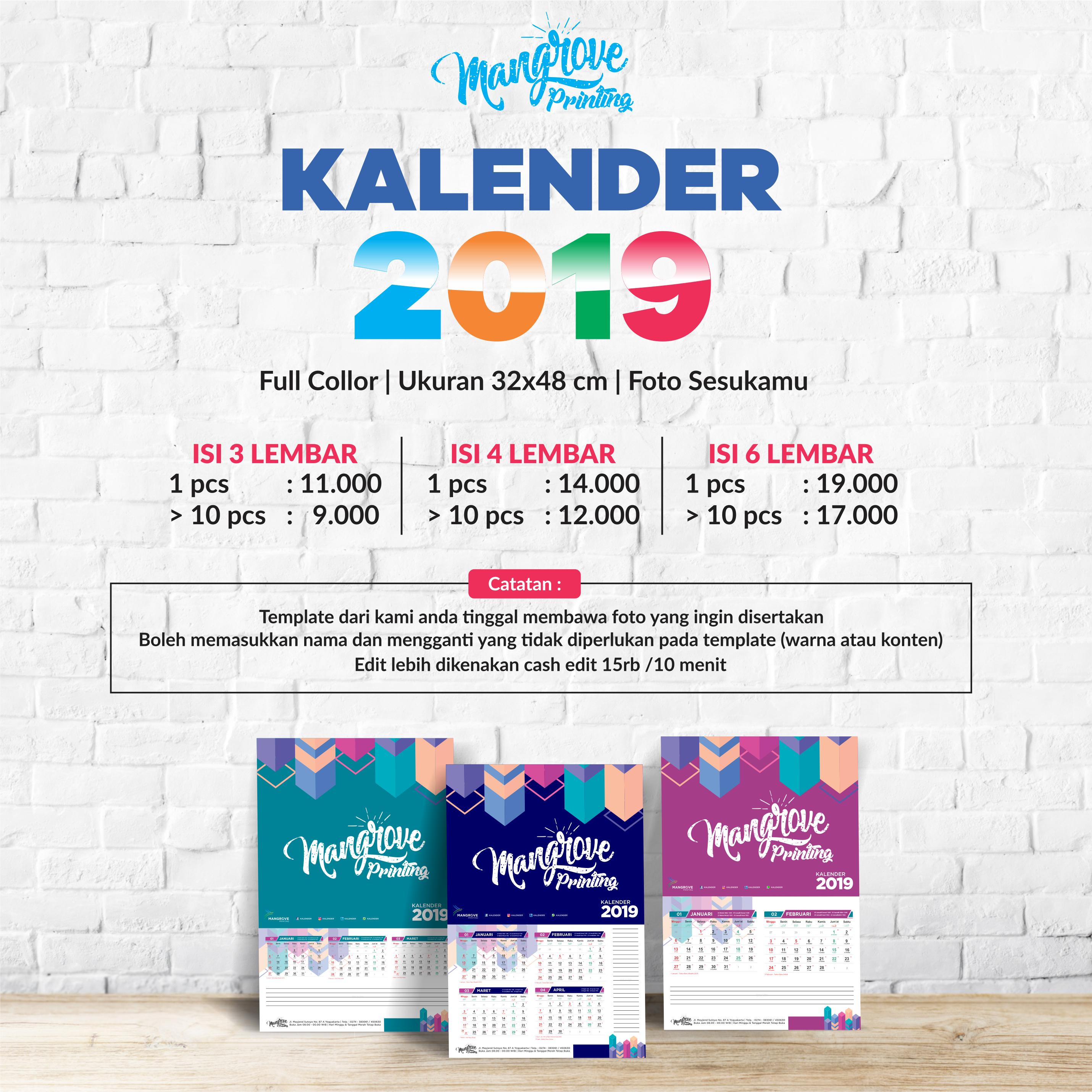 Mangrove Gejayan Promo Paket Kalender 2019 Murah