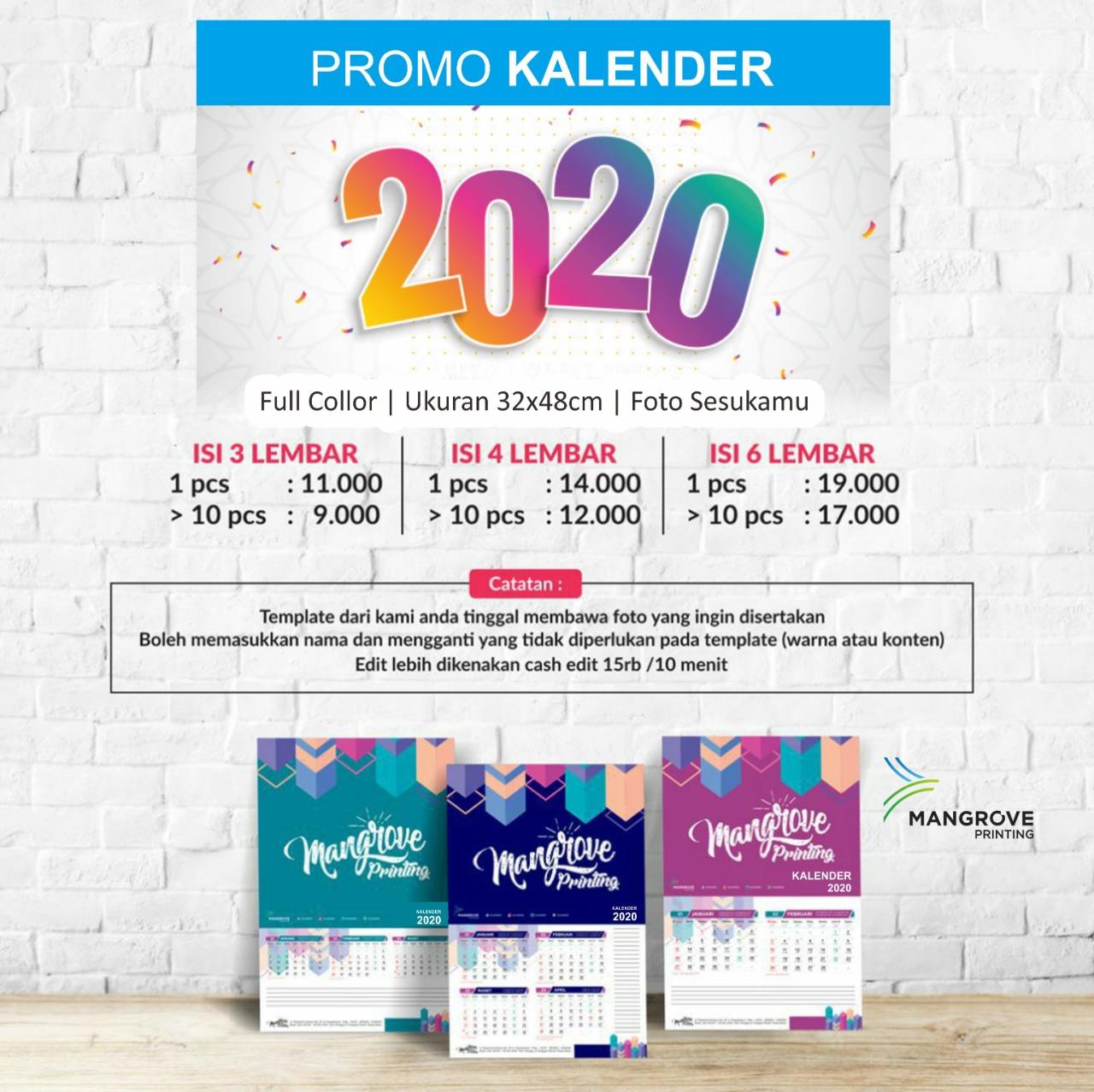 Cetak Kalender 2020 di Yogyakarta